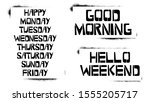 Set Of Weekdays Stencil...