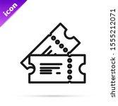 black line cinema ticket icon... | Shutterstock .eps vector #1555212071