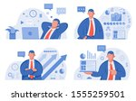 business template with...   Shutterstock .eps vector #1555259501