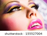 closeup face of beautiful woman ... | Shutterstock . vector #155527004
