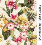 vintage seamless hand draw... | Shutterstock .eps vector #155528369