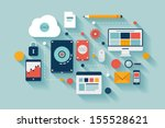 flat design vector illustration ... | Shutterstock .eps vector #155528621