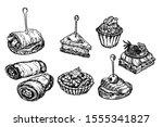 finger food sketch. food... | Shutterstock .eps vector #1555341827