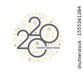 2020 new year logo with holiday ... | Shutterstock .eps vector #1555361384