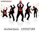 business people in winning... | Shutterstock .eps vector #155537189