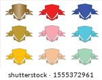 set of banners and ribbons... | Shutterstock .eps vector #1555372961