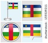central african republic flag   ... | Shutterstock . vector #155539211