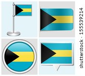 bahamas flag   set of various... | Shutterstock . vector #155539214
