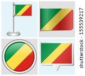 congo flag   set of various... | Shutterstock . vector #155539217