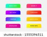 raster set of modern gradient... | Shutterstock . vector #1555396511