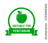 suiatable for vegetarian icon.... | Shutterstock .eps vector #1555400501