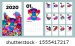 2020 New Year Calendar Design...
