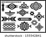 native american vector set | Shutterstock .eps vector #155542841
