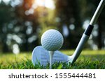 Blurred Golf Ball And Golf...