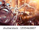 Motorcycle Headlight Detail  ...