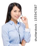 call center woman | Shutterstock . vector #155547587