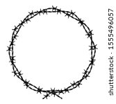 Barbed Wire Wreath Vector...