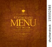restaurant menu design | Shutterstock .eps vector #155552585