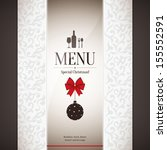 special christmas restaurant... | Shutterstock .eps vector #155552591