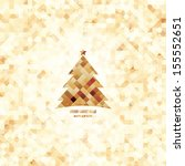 christmas and new year. vector... | Shutterstock .eps vector #155552651