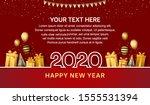happy new year 2020. vector... | Shutterstock .eps vector #1555531394