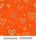 Vector pattern - hearts seamless (love - decorative background)  - stock vector