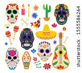 Day Of The Dead Symbol Set  ...