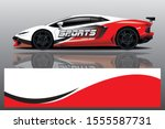 sport car decal wrap design... | Shutterstock .eps vector #1555587731