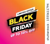 black friday sale banner layout ... | Shutterstock .eps vector #1555611794