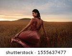young woman feeling happy in... | Shutterstock . vector #1555637477