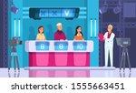 tv contest. cartoon word... | Shutterstock .eps vector #1555663451