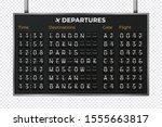 airport mechanical scoreboard.... | Shutterstock .eps vector #1555663817