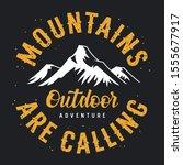 mountain illustration. outdoor...   Shutterstock .eps vector #1555677917
