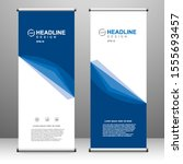 roll up banner stand template...   Shutterstock .eps vector #1555693457