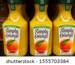 simply orange  high pulp  non...   Shutterstock . vector #1555703384