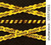 set of grunge cross warning... | Shutterstock .eps vector #155571011