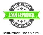 loan approved round stamp with... | Shutterstock .eps vector #1555725491