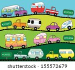campers on the road | Shutterstock .eps vector #155572679