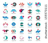 unusual icons set   isolated on ... | Shutterstock .eps vector #155573111