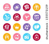 icons set party  birthday and... | Shutterstock .eps vector #155573159