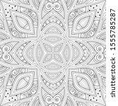 monochrome seamless pattern... | Shutterstock . vector #1555785287