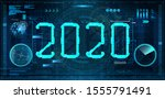 technology 2020 new year... | Shutterstock .eps vector #1555791491
