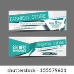 fashion store web banner ... | Shutterstock .eps vector #155579621