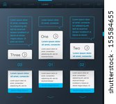 website web design elements... | Shutterstock .eps vector #155584655