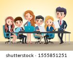 business conference vector... | Shutterstock .eps vector #1555851251