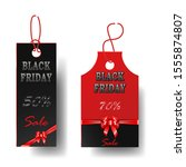set of black with red price... | Shutterstock . vector #1555874807