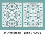 die and laser cut decorative... | Shutterstock . vector #1555876991
