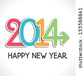 colorful happy new year 2014... | Shutterstock .eps vector #155588861