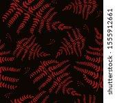 seamless pattern with fern.... | Shutterstock .eps vector #1555912661