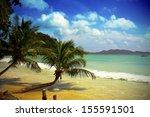 mauritius beach | Shutterstock . vector #155591501